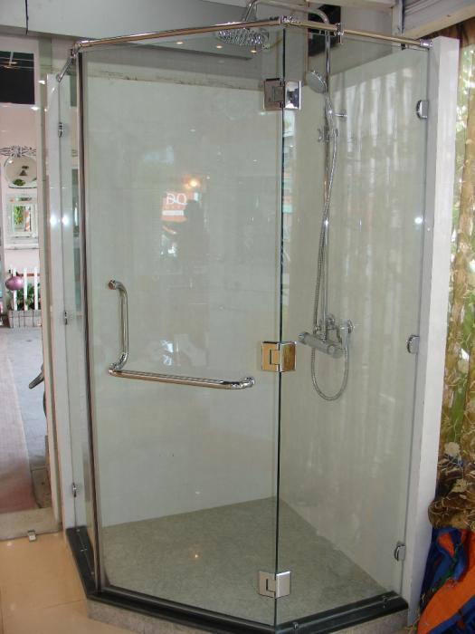 Vách tắm kính mở xoay bộ 3 tấm