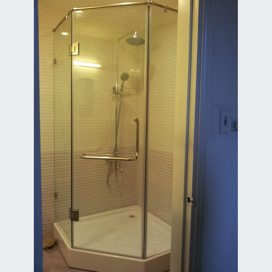Vách tắm kính vát góc bộ 3 tắm